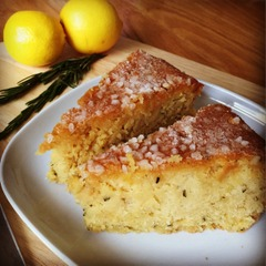 RHS Plant & Potato Fair recipe - lemon and rosemary drizzle cake