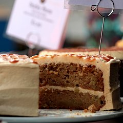 Apple and salted caramel cake