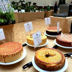 Five cakes upon the Brett & Bailey stall